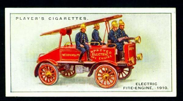 Пожарный электромобиль, 1910 год