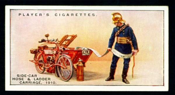 Прицеп к мотоциклу с рукавами и лестницей, 1910 год