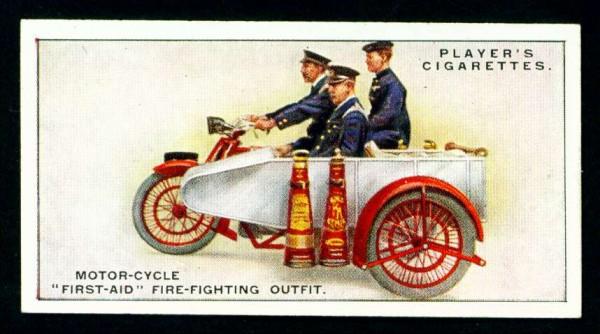 Пожарный мотоцикл первой помощи