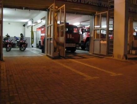 Габариты гаража пожарных машин наглядно