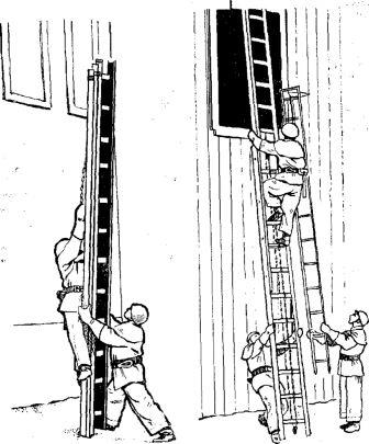 работа с лестницей