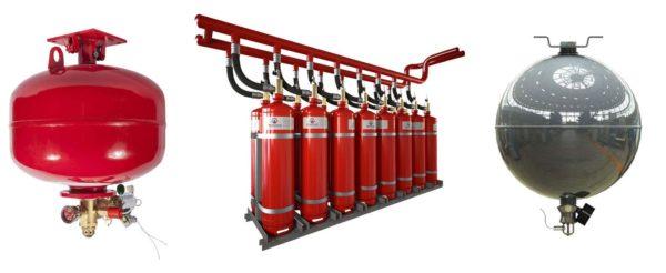 Внешний вид модулей газового пожаротушения