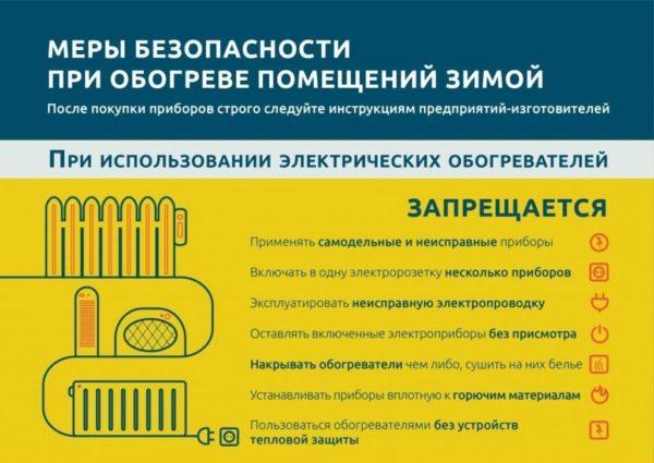 Домашние обогреватели безопасность