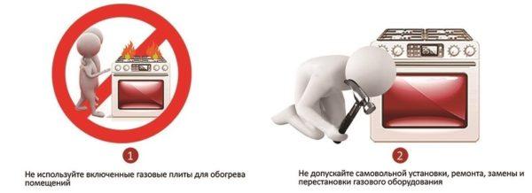 Правила безопасности с газом в быту