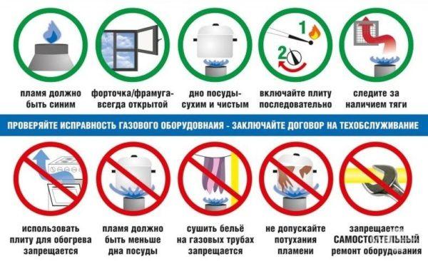 Правила использования газа